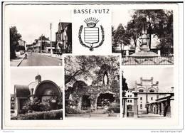 Carte ( Format 15 X 10,5 Cm ) De Basse Yutz  ( Multivues Avec  Temple Protestant )( Recto Verso ) - Autres Communes