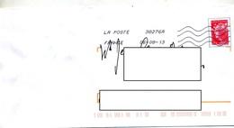 Lettre Flamme  Chiffree Sur Pap Découpé Curiosité - Poststempel (Briefe)