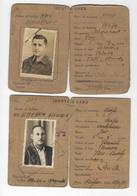 JUDAICA  BRITISH PALESTINE GOVERNMENT 3 ID IDENTITY CARDS 1930 - 40s - Historische Documenten