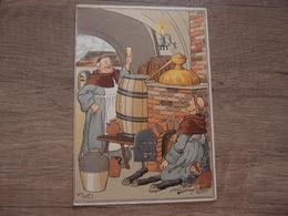 CPA Illustarteur Harry Eliott Carte Ancienne Authentique Moines Buvant Alambic - Elliot