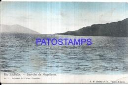 124709 CHILE TIERRA DEL FUEGO ESTRECHO DE MAGALLANES RIO BACHELOR BREAK POSTAL POSTCARD - Chile