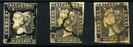 España Nº 1 Y 1A. Año 1850 - Usados
