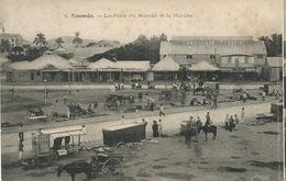 Noumea La Place Du Marché Et Le Marché  Attelage Marchand Café Coffee Cart - Nouvelle-Calédonie