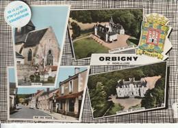 37 - Très Belle Carte Postale Semi Moderne Dentelée De  ORBIGNY   Multi Vues - Other Municipalities