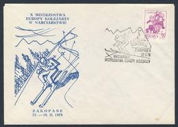 Poland Polska Polen 1978 Brief Cover – X Ski-Europameisterschaften Eisenbahner, 22-26.II.1978 Zakopane/Ski Championships - Skisport