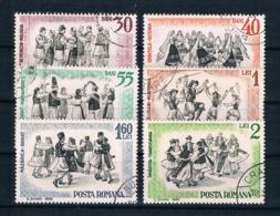 Rumänien 1966 Volkstänze Mi.Nr. 2487/92 Kpl. Satz Gestempelt - 1948-.... Republiken