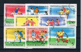 Rumänien 1990 Fußball Mi.Nr. 4594/601 Kpl. Satz Gestempelt - 1948-.... Republiken