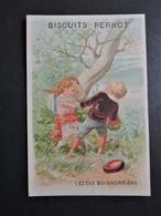 CHROMO  Vieillemard & Fils.  Biscuits Pernot à Dijon. L'  ECOLE  BUISSONNIERE - Documentos Antiguos