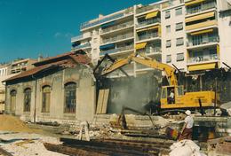 Nice (06) 01/10/1991 - Chemins De Fer De La Provence - Démolition Du Dépôt De Nice - Ferrocarril - Estación