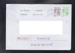FRANCE, COVER / REPUBLIC OF MACEDONIA ** - 2013-... Marianne Di Ciappa-Kawena