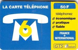 Carte Prépayée - OMNICOM   M6 - Frankrijk
