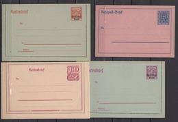 Dt.Reich INFLA Lot 25 Ganzsachen Aus MiNo. P 109 Bis P I ** Ungebraucht Mit Rohrpost,Doppelkarten,Kartenbriefen Etc - Germany