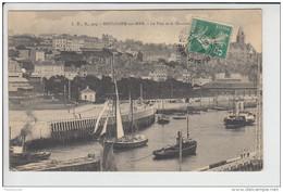 Carte De Boulogne Sur Mer  ( Bateau Remorqueur ) Le Port Et Le Quartier Saint-Pierre( Recto Verso ) - Boulogne Sur Mer