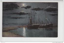 Carte Du Canal De Suez Drague  ( La Nuit )  ( Lichtenstern & Harari Cairo N° 101 )  ( Recto Verso ) - Suez