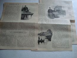 Ancien Document Papier  1900  LA TELEGRAPHIE Sans Fil:textes ,illustrations  WIMEREUX/MARCONI - Vieux Papiers