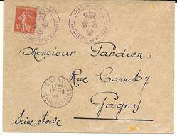 CACHET PROVISOIRE 1914 MAIRIE DE BREULEY (MEURTHE) - Cachets Provisoires