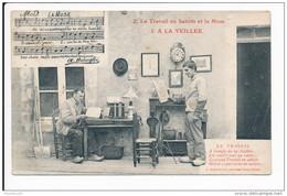 Carte Le Travail En Sabots Et La Muse N° 2  ( A Bonnefoi Ouvrier Berrichon ) Chanson ( Folklore )( Recto Verso ) - Non Classés