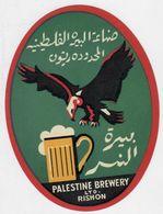 Palestine Israel Brewery LTD. RISHON - Old Green Beer Label Rishonia - Arabic - Bière