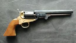 Revolver PIETTA Poudre Noire 1851 NAVY REBNORD (canon Long) CALIBRE 36 - Armes Neutralisées