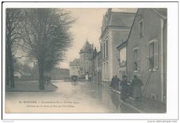 Carte De BOURGES  Inondations Janvier 1910 Avenue De La Gare Et Rue Du Pré D' Eau ( Recto Verso ) - Bourges
