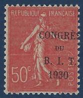 France Congrès Du BIT N°264** Variété Surcharge Déplaçée , Tres Rare Sur Ce Timbre RRR Signé Calves & Baudot - Variétés: 1921-30 Neufs