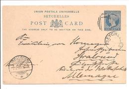 Seychellen Stationary Postcard 6cts  Cancelled For Stralsund- HG2 - Seychellen (...-1976)