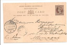 Seychellen Stationary Postcard 8cts  Cancelled For Stralsund - Seychellen (...-1976)