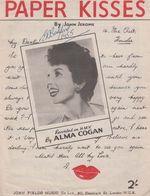 Paper Kisses Alma Cogan 1950s Sheet Music - Partituren
