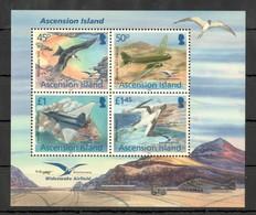 C767 2012 ASCENSION ISLAND FAUNA BIRDS AVIATION !!! MICHEL 13 EURO !!! 1KB MNH - Aerei