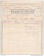 Facture De CHARTRES Rue De La Tonnellerie Eugène DUROCH  Coiffeur Parfumeur En 1883 - Francia