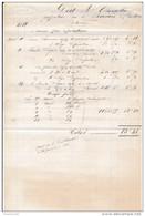 Facture De CHARTRES Quai Aux Plâtres  Entreprise De Charpentes CAILLEAUX  En 1882 - Francia