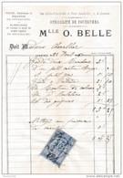 Facture De CHARTRES  Rue Collin D'harleville Et Place Sainte Foi Fourrures BELLE En 1880 - Francia
