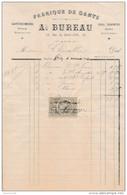 Facture De CHARTRES Rue Du Soleil D' Or Fabrique De Gants BUREAU En 1882 - Francia