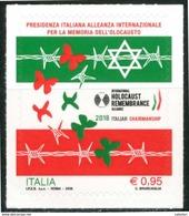 ITALIA / ITALY 2018** - Memoria Dell' Olocausto - 1 Val. MNH Autoadesivo, Come Da Scansione. - Seconda Guerra Mondiale