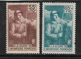France Timbres De 1938 N°386/87 Neufs ++ Gomme Parfaite Cote 17€ - Frankreich