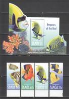 C789 SAMOA FISH & MARINE LIFE REEF EMPERORS #984-87 MICHEL 11 EURO BL70SET MNH - Vita Acquatica