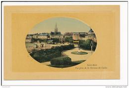 Carte De SAINT MALO En Forme De Médaillon Sans éditeur Prise De La Terrasse Du Casino ( Recto Verso ) - Saint Malo
