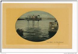 Carte De SAINT MALO En Forme De Médaillon Sans éditeur Le Pont Roulant  ( Recto Verso ) - Saint Malo