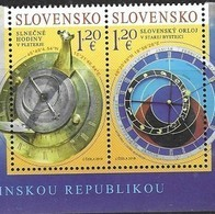SLOVAKIA , 2019, MNH, JOINT ISSUE WITH SLOVENIA, SUNDIALS, ASTRONOMICAL CLOCKS, 2v - Emissioni Congiunte
