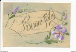 CARTE CELLULOID  Avec Dessin  Peinte   ( Recto Verso ) - Postcards