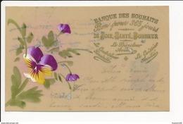 CARTE CELLULOID  Avec Dessin  ( Peinte ) Banque Des Souhaits   ( Recto Verso ) - Autres