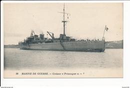 Carte Du Croiseur  Primauguet  ( Marine De Guerre ) ( Recto Verso ) - Oorlog