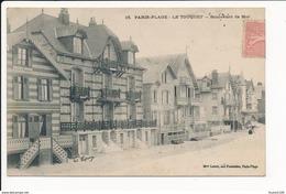 Carte De Paris Plage Le Touquet  Boulevard De La Mer ( Mme Letort Aux Fantaisies Paris Plage  Peu Courante ( Recto Verso - Le Touquet