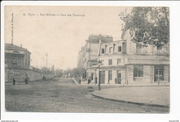 Carte De Dijon Rue Millotet Gare Des Tramways  ( Recto Verso ) - Dijon