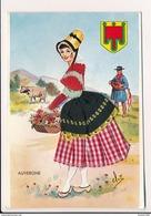 Carte Brodée Elsi ( Format 15 X 10 Cm )  D' Auvergne ( Vielle ) - Brodées