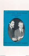 Fascicule Théâtre Moderne Sacha Pitoeff  Une Comédie D'albert Husson ( Pub Cigarette Smart Bière Ober Pils - Programas
