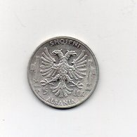 Italia - 1939 - Colonia Albania - 5 Lek - Argento - Vittorio Emanuele III° - (MW2681) - Albanie