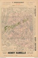 1899 PARIS Plan 8e Arrondissement / Théâtre De Vaudeville ( Biere Dumesnil Chapelier E. Motsch - Publicités
