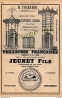 PUB 1889 Constructeur Urinoir Kiosque Publicitaire TOURNADE à FONDETTES 37 Lavabos Seyffert Kula Simonnet Warmeriville - Publicidad