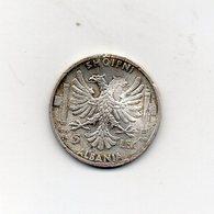 Italia - 1939 - Colonia Albania - 5 Lek - Argento - Vittorio Emanuele III° - (MW2683) - Albanie